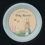 "Peter Rabbit | Boy Baby Shower Paper Plate<br><div class=""desc"">It&#39;s a Boy! Celebrate your Peter Rabbit themed Baby Shower with these sweet blue polka-dot paper plates.</div>"