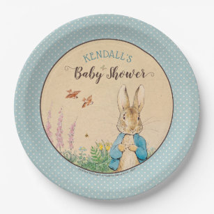 Peter Rabbit | Boy Baby Shower Paper Plate  sc 1 st  Zazzle & Polka Dotted Plates | Zazzle