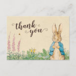 "Peter Rabbit | Boy Baby Shower Thank You<br><div class=""desc"">Thank all your family and friends for coming to your Baby Boy&#39;s Peter Rabbit themed Baby Shower. Personalize by adding your own custom thank you message.</div>"