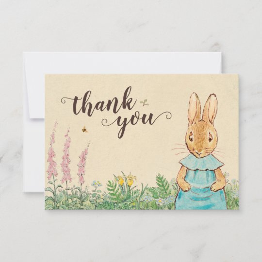peter rabbit girl baby shower thank you