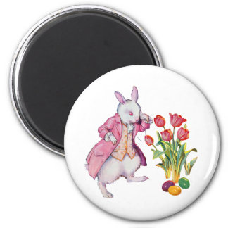 Peter Rabbit Inspects the Easter Eggs 2 Inch Round Magnet