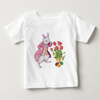 Peter Rabbit Inspects the Easter Eggs Baby T-Shirt