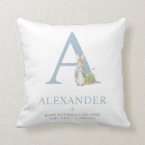 Peter Rabbit | Personalized Letter A Throw Pillow