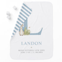 Peter Rabbit | Personalized Letter L Baby Blanket