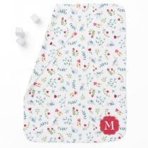 Peter Rabbit | Watercolor Forest Pattern Baby Blanket
