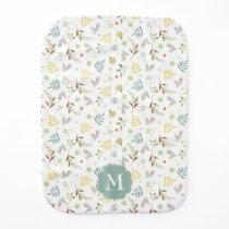 Peter Rabbit | Woodland Watercolor Pattern Baby Burp Cloth