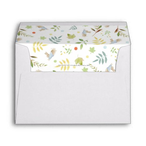 Peter Rabbit   Woodland Watercolor Pattern Envelope