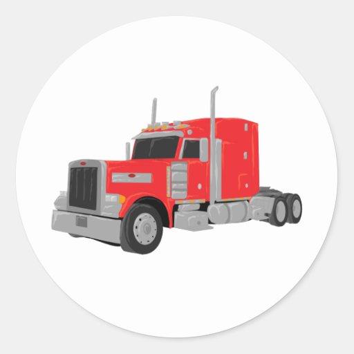 peter rojo construyó el tractor pegatina redonda