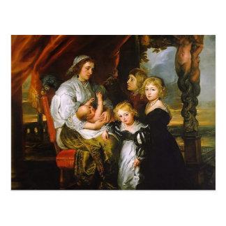 Peter Rubens- Deborah Kip, y sus niños Postal