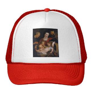 Peter Rubens- la familia santa con St. Elizabeth Gorro De Camionero