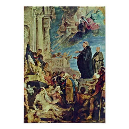 Peter Rubens - Miracles of St Francis Xavier Poster