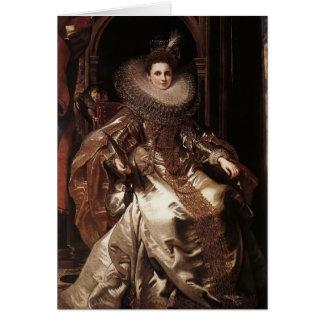 Peter Rubens- Portrait of Maria Serra Pallavicino Greeting Card