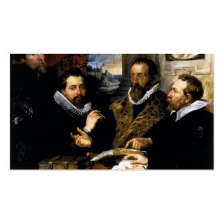 Peter Rubens- Selfportrait with brother Philipp Business Cards