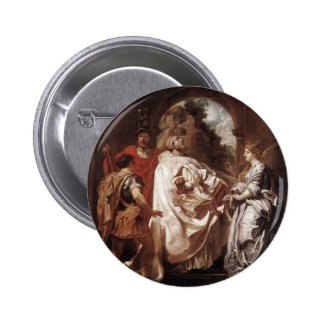 Peter Rubens- St. Gregory the Great with Saints Pinback Button