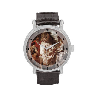 Peter Rubens- St. Gregory the Great with Saints Wristwatches