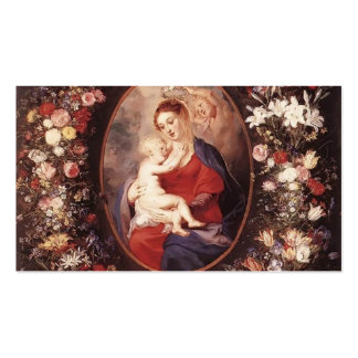 Peter Rubens-Virgin,Child in a Garland of Flower Double-Sided Standard Business Cards (Pack Of 100)