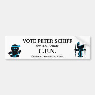 Peter Schiff, Connecticut Senate Car Bumper Sticker
