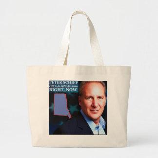 Peter Schiff for Senate Large Tote Bag