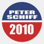 PETER SCHIFF FOR SENATE ROUND STICKERS