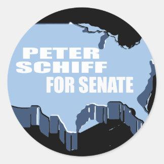 PETER SCHIFF FOR SENATE CLASSIC ROUND STICKER