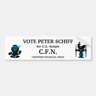 Peter Schiff, senado de Connecticut Pegatina Para Auto