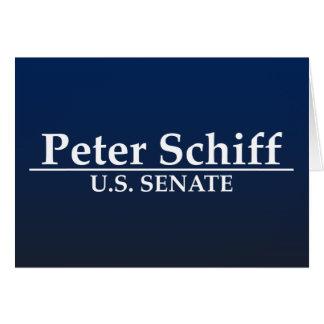 Peter Schiff U.S. Senate Greeting Card