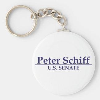 Peter Schiff U.S. Senate Basic Round Button Keychain