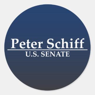 Peter Schiff U.S. Senate Classic Round Sticker