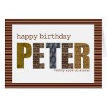 peter tarjeta de felicitación