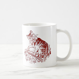 Peter the Cat Finds Fish Fascinating Coffee Mug