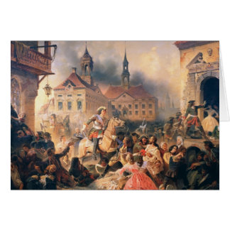Peter the Great conquers Narva in 1704, 1859 Card