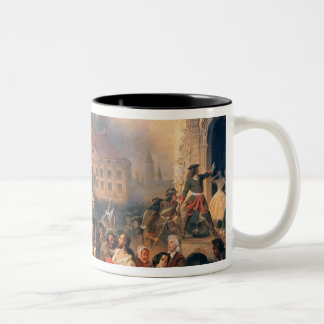 Peter the Great conquers Narva in 1704, 1859 Two-Tone Coffee Mug
