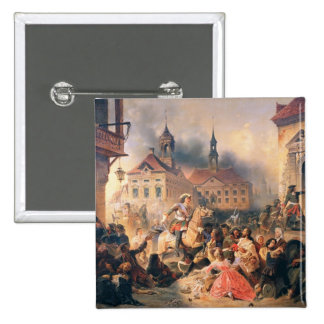 Peter the Great conquers Narva in 1704, 1859 Pinback Button