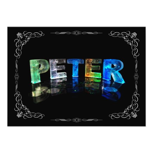Peter  - The Name Peter in 3D Lights (Photograph)