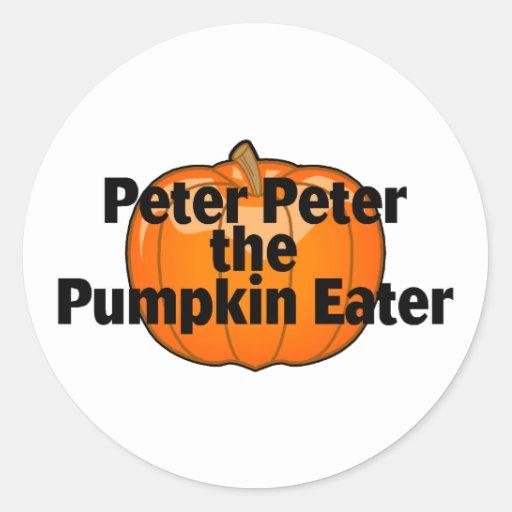 Peter The Pumpkin Eater Classic Round Sticker