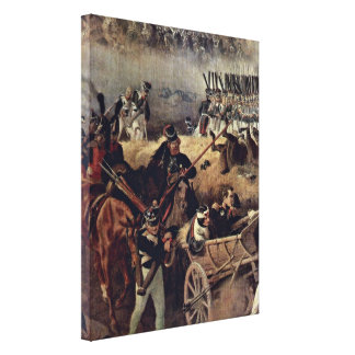 Peter von Hess - The Battle of Borodino Detail Gallery Wrap Canvas