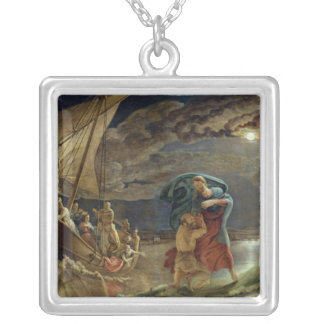 Peter Walks on Water, 1806 Silver Plated Necklace