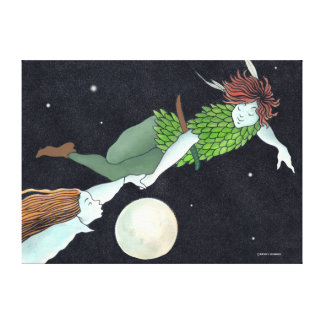 """Peter & Wendy"" Wrapped Canvas Print"