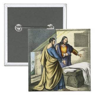 Peter y Juan en el sepulcro, de un prin de la bibl Pin Cuadrada 5 Cm