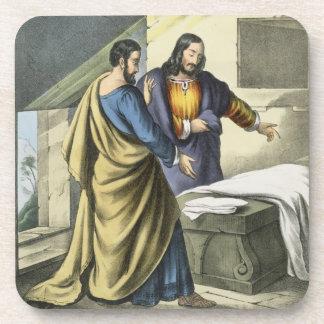 Peter y Juan en el sepulcro, de un prin de la bibl Posavasos De Bebidas