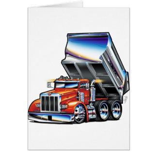 Peterbilt 357 Dump Truck Card