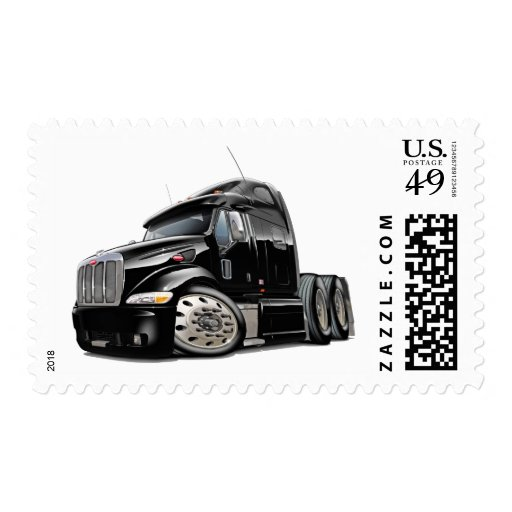 Peterbilt Black Truck Postage Stamp