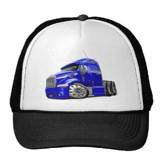 Peterbilt Blue Truck Trucker Hat