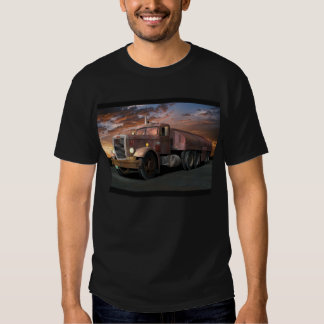 """Peterbilt """"Duel Truck"""" With Trailer Tee Shirt"""