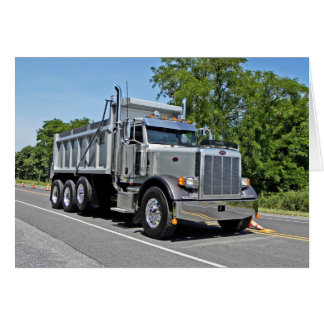 Peterbilt Dump Truck Note Card