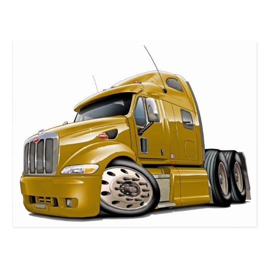 Peterbilt Gold Truck Postcard