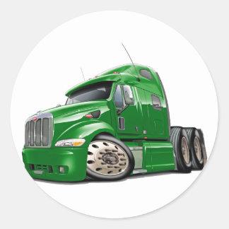 Peterbilt Green Truck Classic Round Sticker