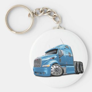Peterbilt Lt Blue Truck Keychain