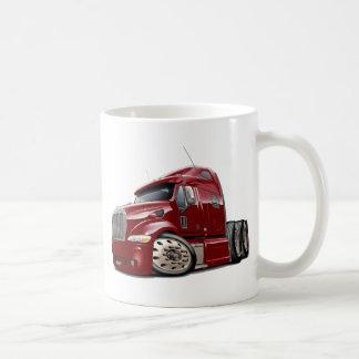 Peterbilt Maroon Truck Coffee Mug