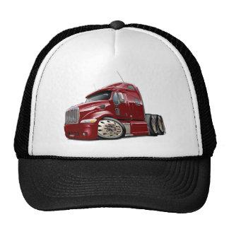 Peterbilt Maroon Truck Trucker Hat